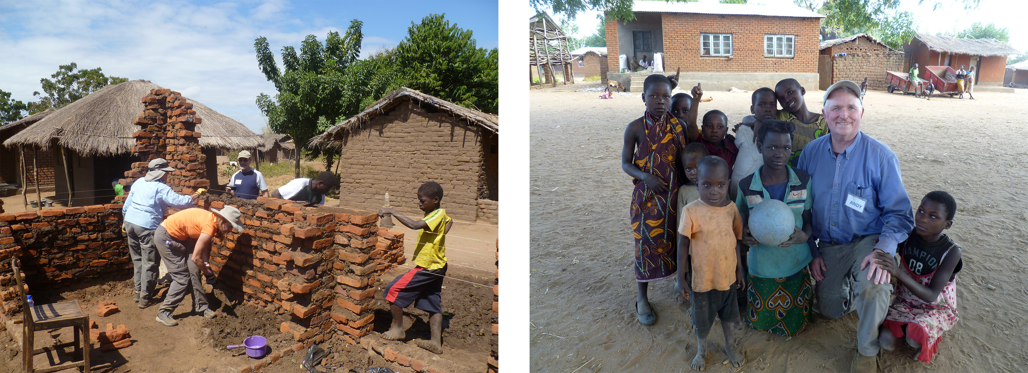 Home build in Malawi