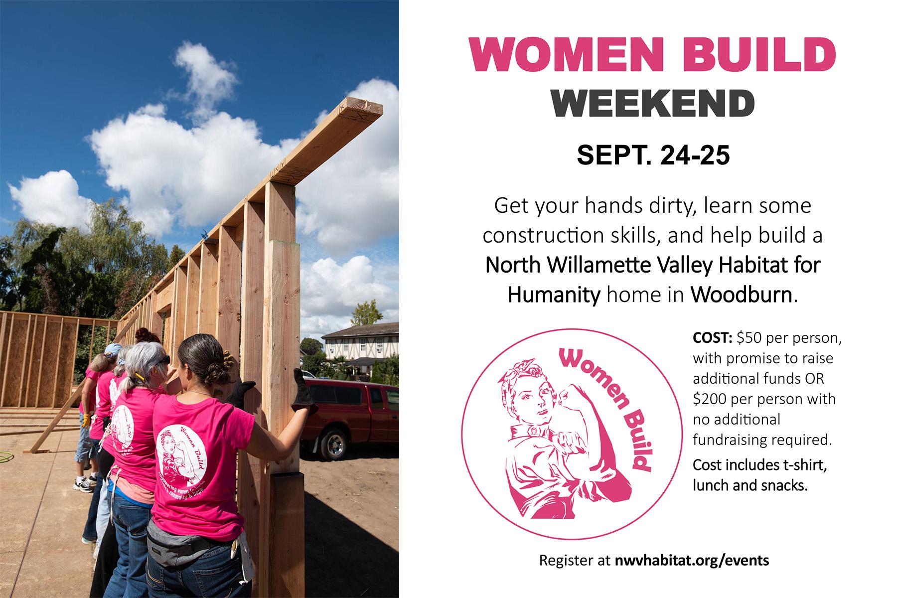 Women Build event
