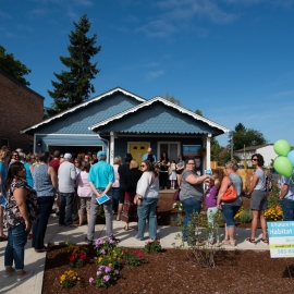 Habitat home dedication