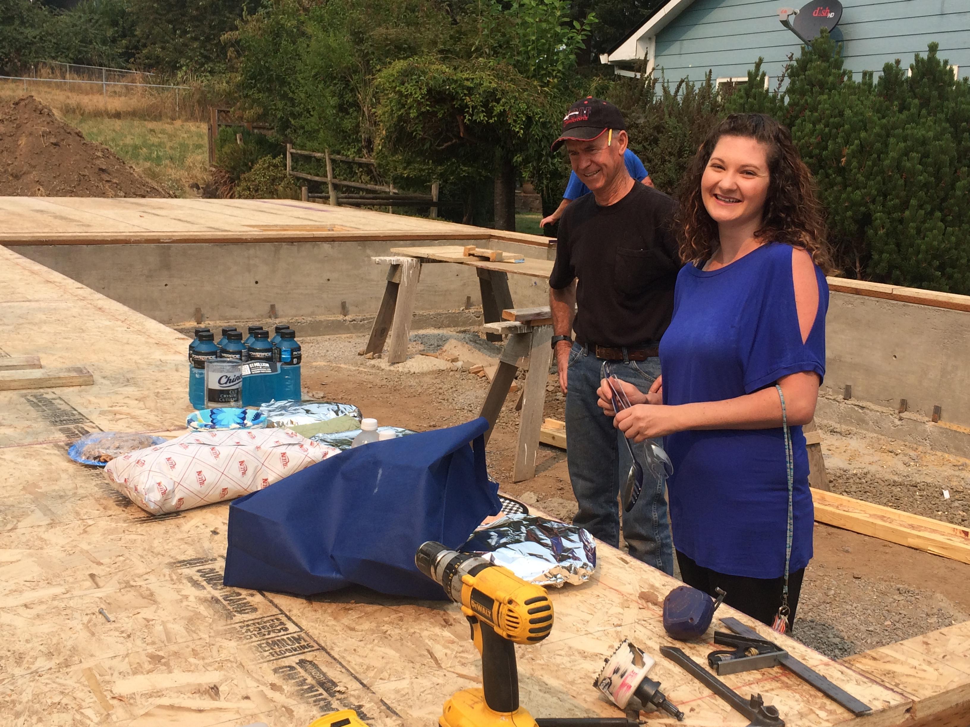 Feeding the construction volunteers
